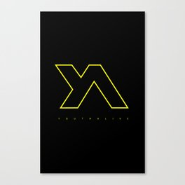 Youth Alive Yellow & Black on Black Canvas Print