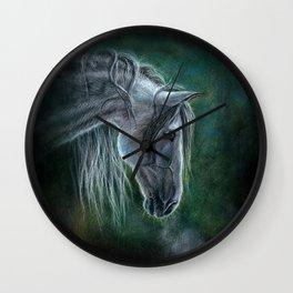 Grey Horse Wall Clock