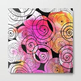 messy spirals Metal Print