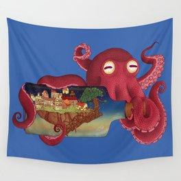 World in bottle: Atalantis (Octopus - monster) Wall Tapestry