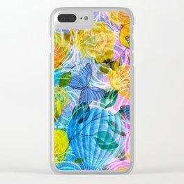 vivid flowers bcx Clear iPhone Case
