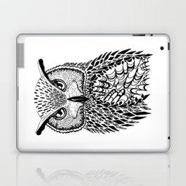 Flustered Owl Zentangle (abstract Laptop & iPad Skin