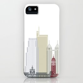 Manila skyline poster iPhone Case