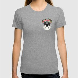 Schnauzer floral crown dog breed pet art schnauzers cute pure breed gifts T-shirt