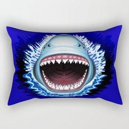Shark Jaws Attack Rectangular Pillow