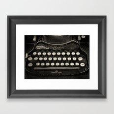 Old Typewriter Keyboard Framed Art Print