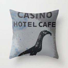 El Halcon Casino Bogota Vintage Print Throw Pillow