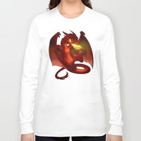 smaug Long Sleeve T-shirts featuring The Hobbit- Chibi Smaug by prpldragon