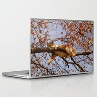 gondor Laptop & iPad Skins featuring Cat on a tree by Augustinet