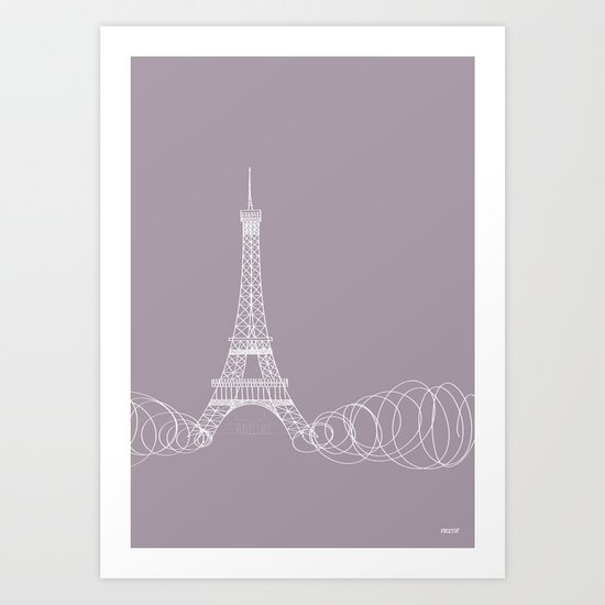 Paris by Friztin Art Print