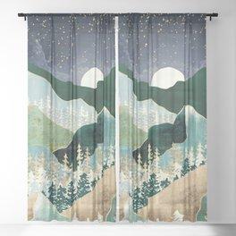 Spring Night Vista Sheer Curtain