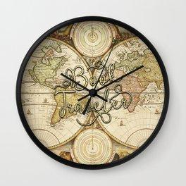 Book Traveler Vintage Map v2 Wall Clock
