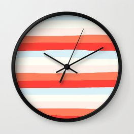 lumpy or bumpy lines abstract and colorful - QAB268 Wall Clock