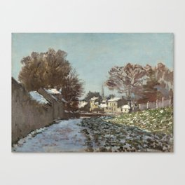 Snow at Argenteuil Canvas Print