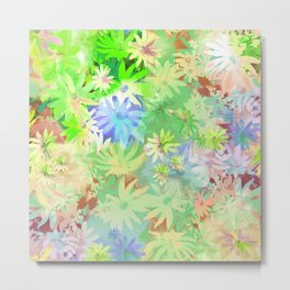 A bed of flowers. Metal Print