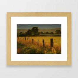 Landscape whit field Framed Art Print