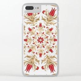Turkish tulip - Ottoman tile 2 Clear iPhone Case