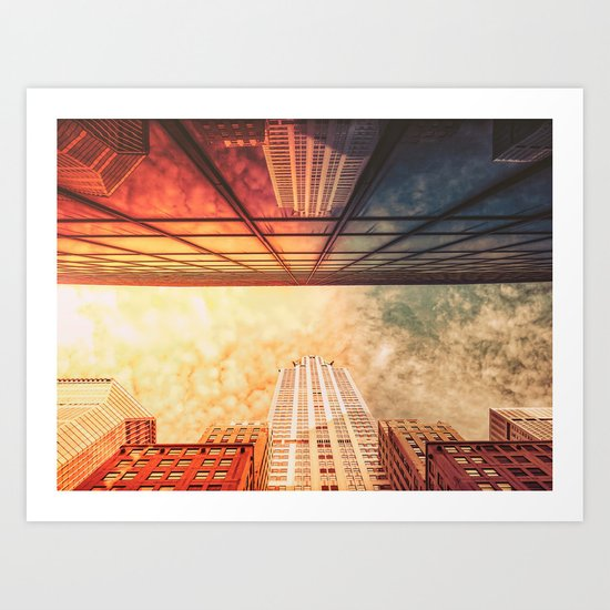 New York City Chrysler Building Up Up and Away Art Print