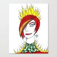 tina crespo Canvas Prints featuring Tina by JenniferBlocker