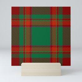 Green red tartan  Mini Art Print