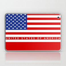 united states of america usa country flag name text Laptop & iPad Skin