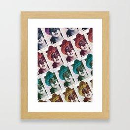 Mask yourself. Framed Art Print