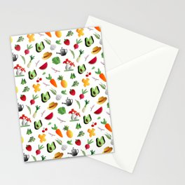 Fruits and vegetables - veggies design to healthy people Stationery Cards