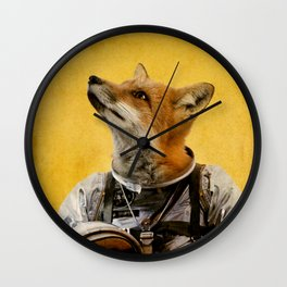 Space fox Wall Clock