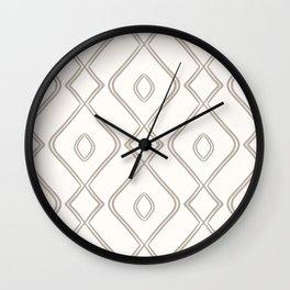 Modern Boho Ogee in Cream Wall Clock