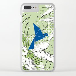 GREENERY Clear iPhone Case