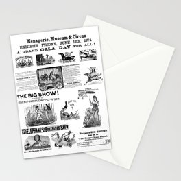 Victorian Circus Poster Stationery Cards