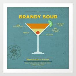 Brandy Sour - Cocktail by Smart Diseños Art Print