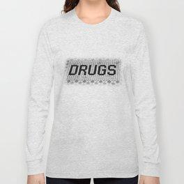 DRUGS Tiled Pharmacy Doorstep Long Sleeve T-shirt