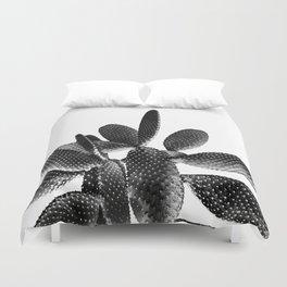 Black White Cactus #1 #plant #decor #art #society6 Duvet Cover