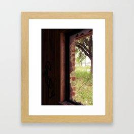 I will break through your window Framed Art Print