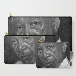 Morgan Freeman Traditional Portrait Print Carry-All Pouch