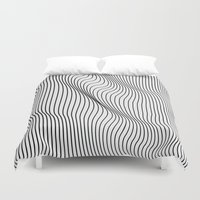 minimal Duvet Covers featuring Minimal Curves by Leandro Pita