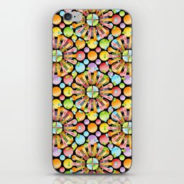 Candy Rainbow Mandala iPhone Skin