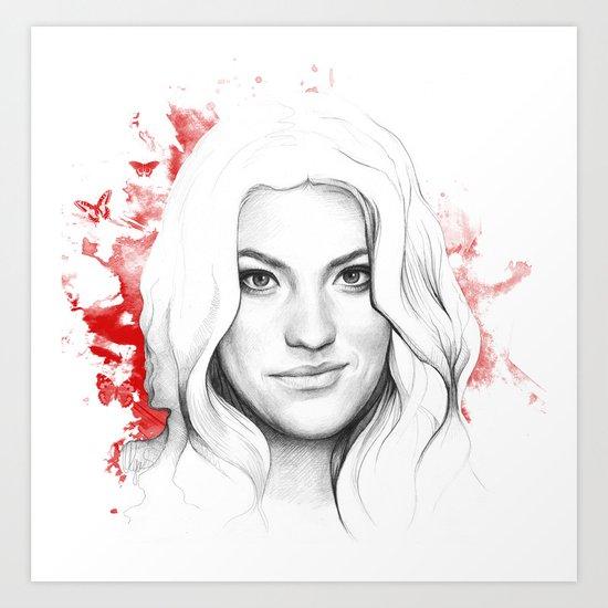 Debra Morgan Dexter Art Print