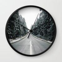 onward Wall Clocks featuring Onward by danotis