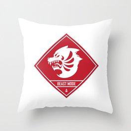 Beast Mode Throw Pillow