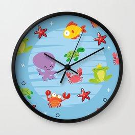 Happy Sealife Wall Clock