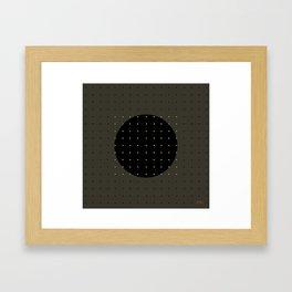 """""""Grey & Polka dots central circle pattern"""" Framed Art Print"""