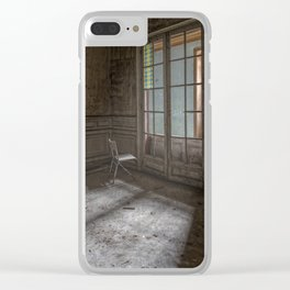 The Manor of Cat - A lonely chair in a ray of light Clear iPhone Case