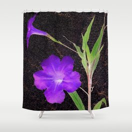 Mexican Petunias Shower Curtain