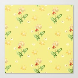 The flowers of the field. Canvas Print