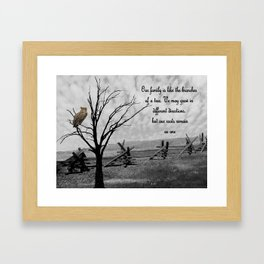 Great Horned Owl with Family Quote A570 Framed Art Print