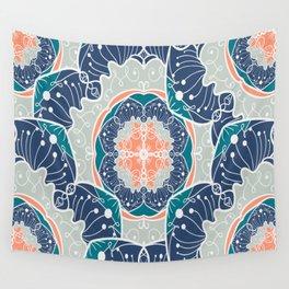 Blue Psychodelic Mandala Wall Tapestry