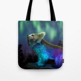 Stargazing - Cosmic Red Panda Tote Bag