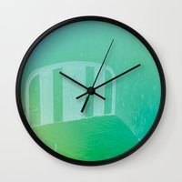 bed Wall Clocks featuring bed by XiXi
